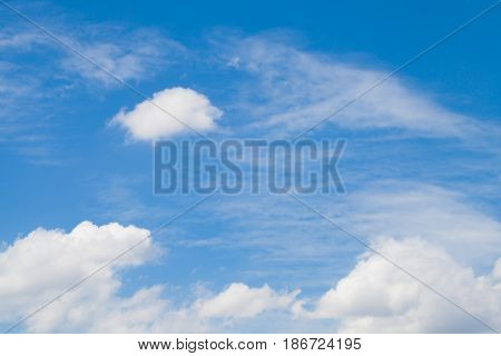 Beautiful blue sky with cloud of background.
