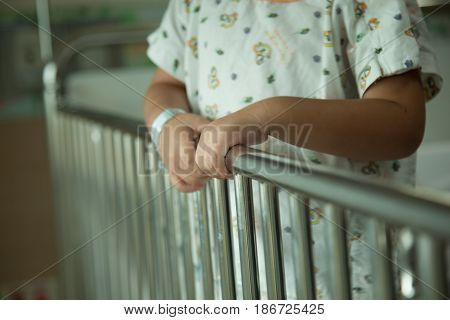Abstract images of children to long stay in a hospital.