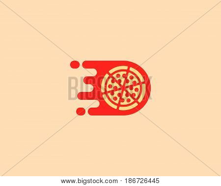 Pizza logotype. Pizzeria vector logo design. Delivery fast food creative modern sign symbol icon