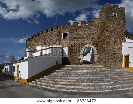 Alandroal Castle Walls, Main Gate And Stairs