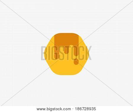 Abstract hive logo design template. Honey fresh vector logotype