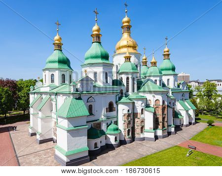 View Of Edifice Of Saint Sophia Cathedral In Kiev