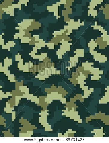 Seamless digital fashion camouflage pattern, pattern texture