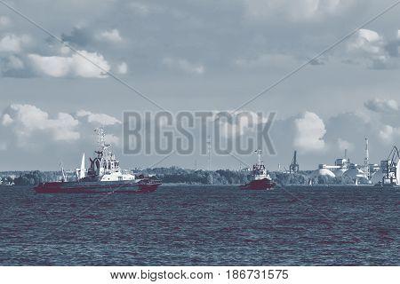 Two Tug Ships