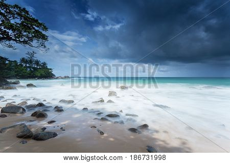 Beach Laem Sing on the island of Phuket in Thailand