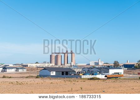 VREDENBURG SOUTH AFRICA - APRIL 1 2017: View of an industrial area in Vredenburg a town in the Western Cape Province