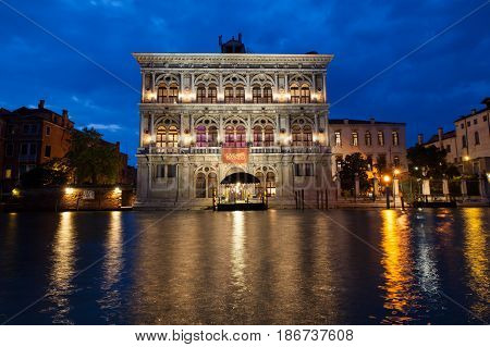 VENICE ITALY - MAY 10: View of the Venice casino on May 10 2017