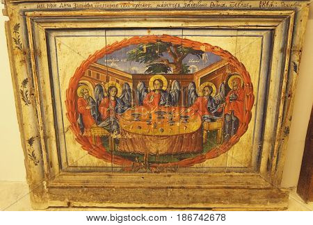 OHRID, MACEDONIA - MARCH 12, 2017: Icon in the church  of Maria the virgin