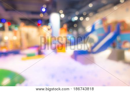 Abstract blur  Modern playground in shopping center