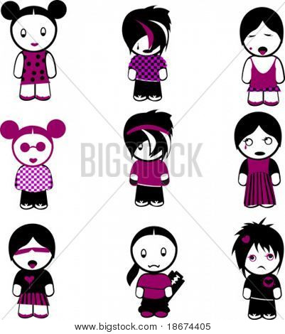 New Nine Emo Girls. More In My Portfolio