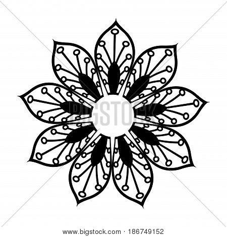 floral mandala bohemian culture meditation vector illustration