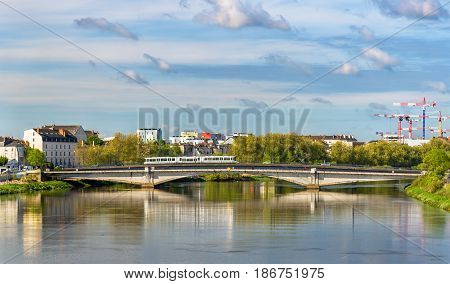 The Loire River in Nantes - France, Loire-Atlantique