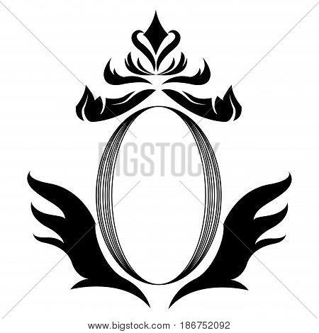 decorative shield heraldry victorian elegant frame vector illustration