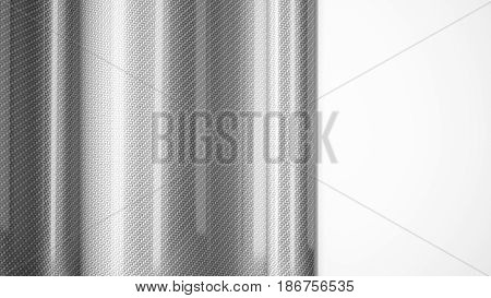 Car wrapping glossy film roll carbon fiber close up background. 3d illustration