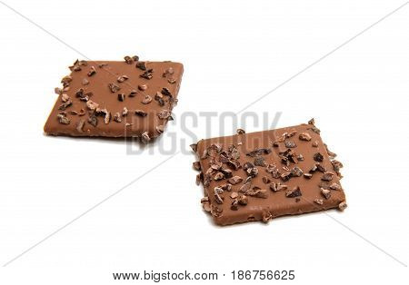 German cookies in chocolate isolated on white background
