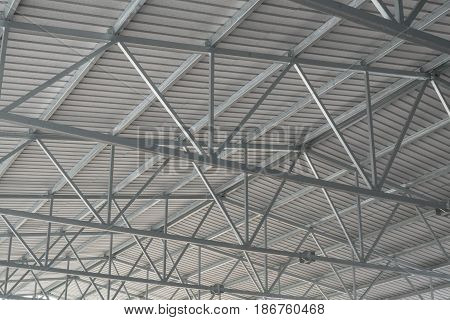 New corrugated metal roof with galvanized steel framing