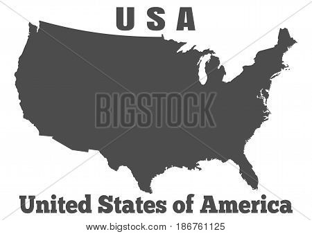 United States of America or USA - high detailed map. Vector illustration
