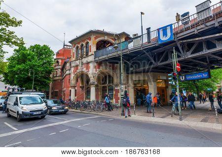 U-bahn Station Schlesisches Tor In Berlin, Germany