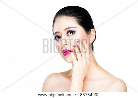Asian Beautiful Brunette Girl Makeup