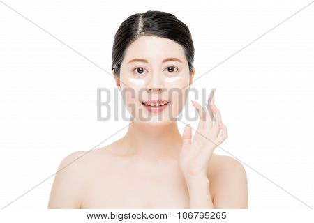 Multicultural Asian Girl Put Lotion On Finger.