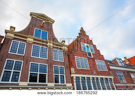Gables Of Historical Houses In Hoorn, Netherlands