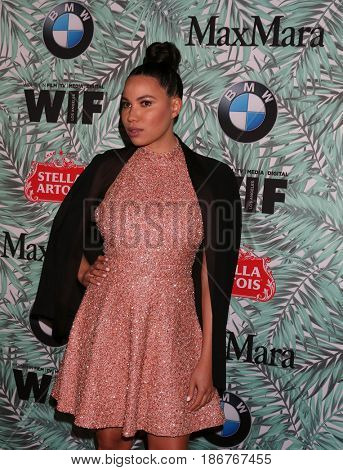 LOS ANGELES - FEB 24:  Jurnee Smollett-Bell at the 10th Annual Women in Film Pre-Oscar Cocktail Party at Nightingale Plaza on February 24, 2017 in Los Angeles, CA