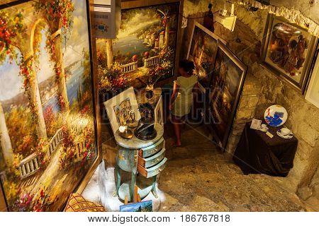 Art Shop In Saint-paul-de-vence, South France