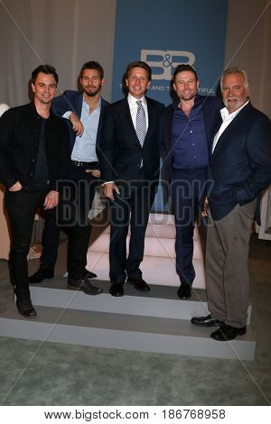 LOS ANGELES - NOV 3:  Darin Brooks, Scott Clifton, Bradley Bell, Jacob Young, John McCook at the The Bold and the Beautiful