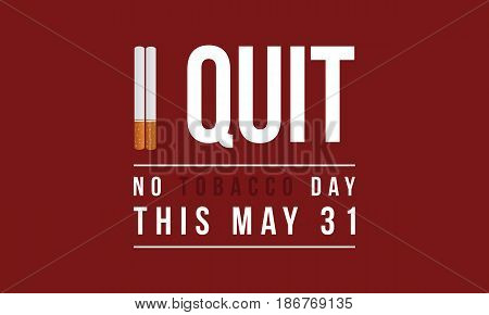 No tobacco day background vector flat collection stock
