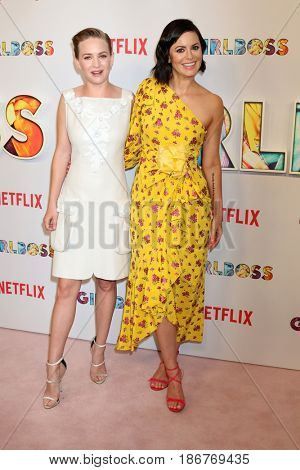LOS ANGELES - APR 17:  Britt Robertson, Sophia Amoruso at the