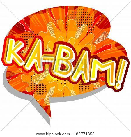 Ka-bam! - Illustrated comic book style expression.