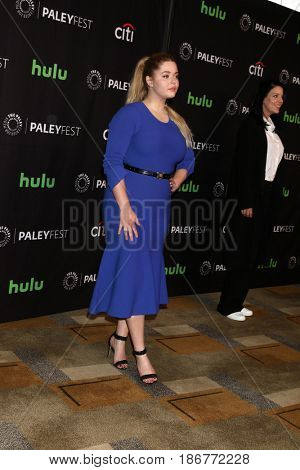 LOS ANGELES - MAR 25:  Sasha Pieterse at the 34th Annual PaleyFest Los Angeles -