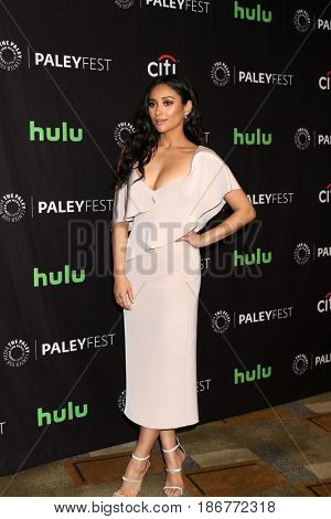 LOS ANGELES - MAR 25:  Shay Mitchell at the 34th Annual PaleyFest Los Angeles -