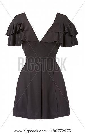 Butterfly Sleeve V-Neck Women short dress