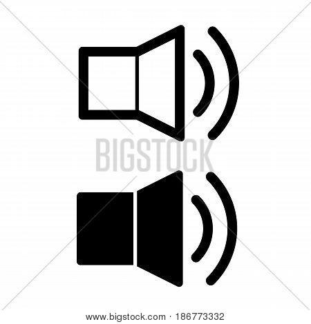 Speaker vector icon. Black and white illustration. eps 10