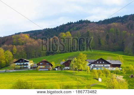 Idyllic austrian alpine cottage at Salzburger Land, Austria