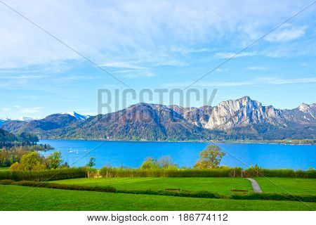 Beautiful landscape with Alps at Salzburger Land, Austria
