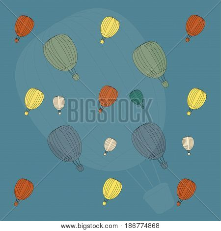 Hot Air Balloon In Colour Background