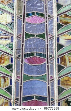 Municipal House stained glass Prague Czech Republic