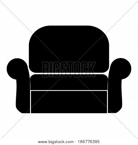 Armchair The Black Color Icon .