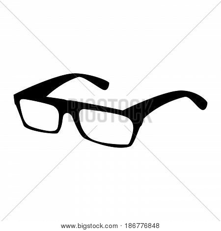 Spectacles The Black Color Icon .