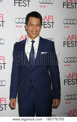 LOS ANGELES - NOV 12:  Byron Mann at the AFI Fest 2015 - Presented by Audi - The Big Short Gala Screening at the TCL Chinese Theater on November 12, 2015 in Los Angeles, CA