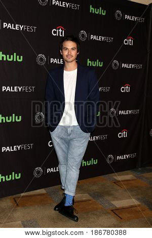 LOS ANGELES - MAR 25:  Tyler Blackburn at the 34th Annual PaleyFest Los Angeles -