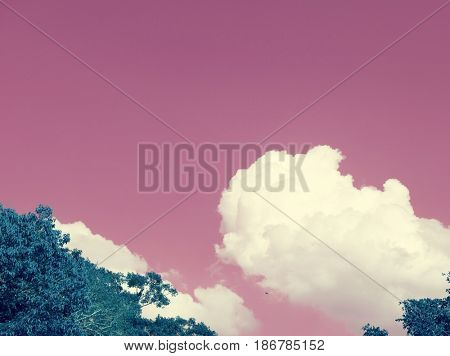 Negative color of cloudscape in nature