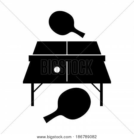 Table tennis, two rackets and a ball ( shade picture )