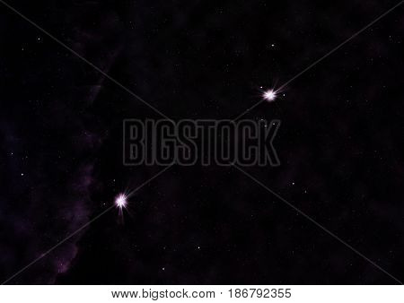Small part of an infinite star field of space in the Universe. Elements of this image furnished by NASA . 3D rendering