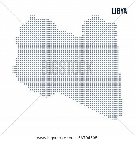 Vector Pixel Map Of Libya Isolated On White Background