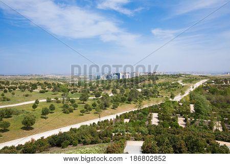 Landscape Of Valdebebas Park In Madrid City