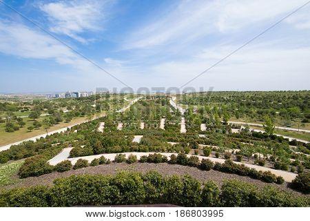 Valdebebas Park In Madrid City
