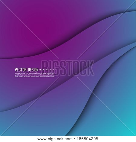 Abstract creative vector multicolored blurred background. Backdrop with gradient curves and waves. The concept of movement. The modern design. Colorful illustration with blue, purple color.